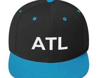 cab71477a8d ATL Atlanta Georgia Snapback Hat