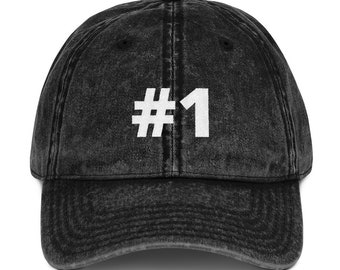 d88b44a7 1 Sport Team Jersey Number Vintage Cotton Twill Cap. HopeForAFutureFamily