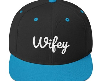 fdcdd2b247cbb Wifey Mrs. Just Married Bride Wife Snapback Hat