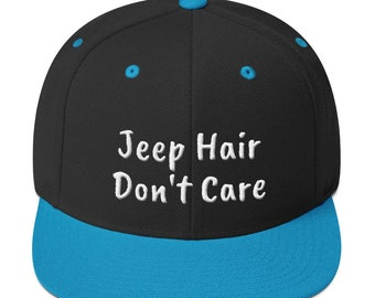 4785c1760d39e Jeep Hair Don t Care Snapback Hat