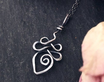 Sterling Silver Buddhist Unalome Necklace