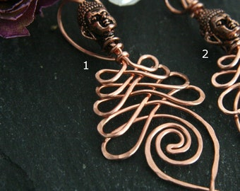 Two Paths Copper Unalome Pendant