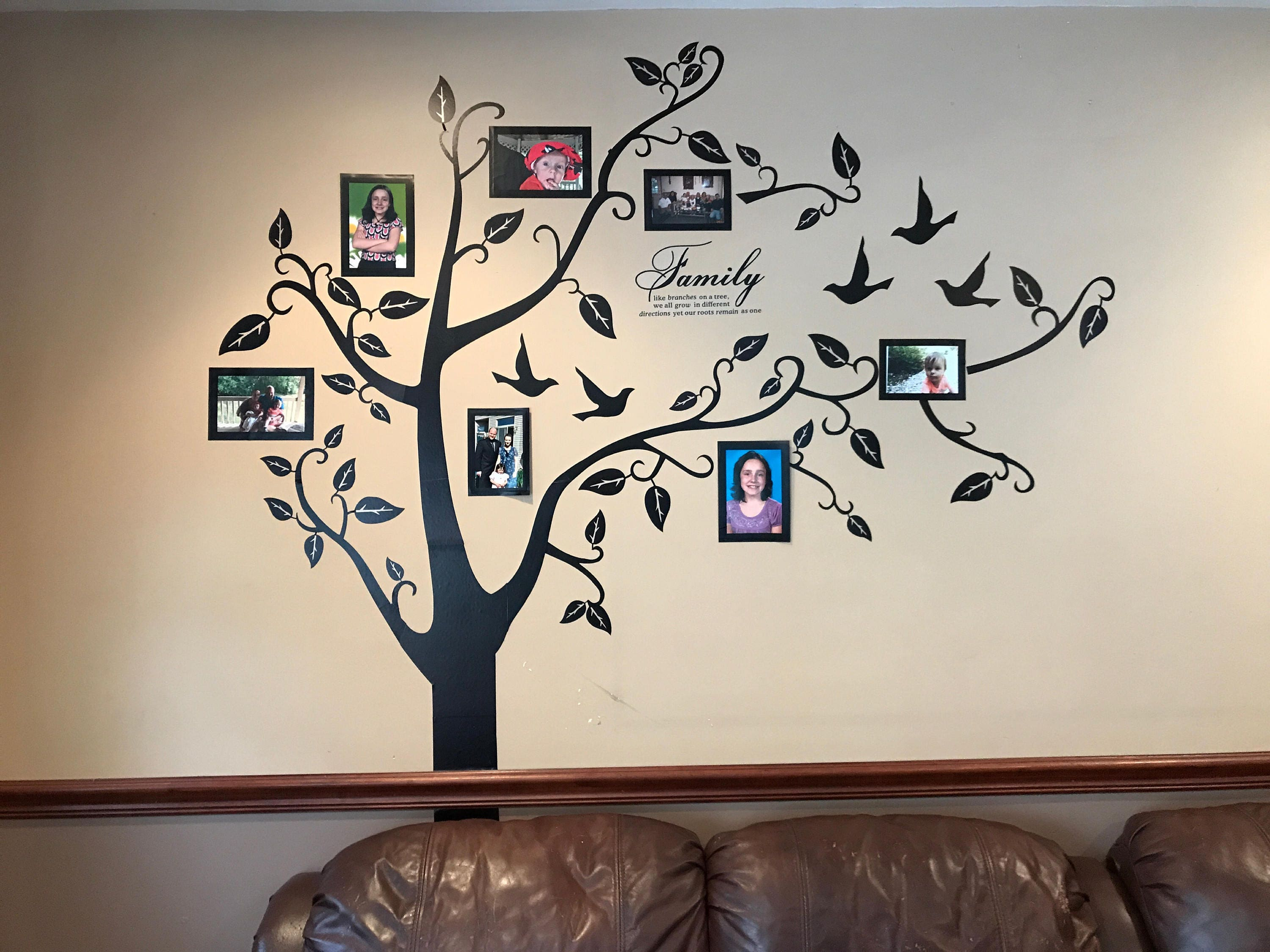 Wall Decal Family Tree Wall Decal Photo Frame Tree Decal Etsy