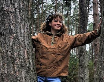 Rain jacket ladies - organic cotton - plastic free