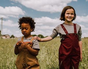 Outdoor - Träger - Latzhose für Kinder aus regenfester Bio Baumwolle