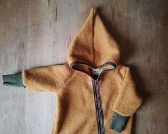 Bio Baby Wollfleece Overall mit Reißverschluss - Merino Schurwolle