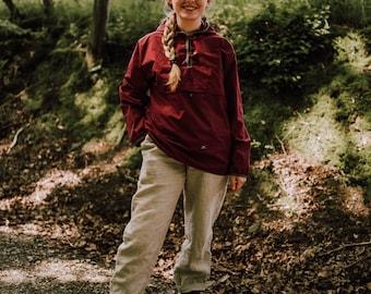 Women's Slip Jacket - Plastic Free Anorak made of Organic Cotton