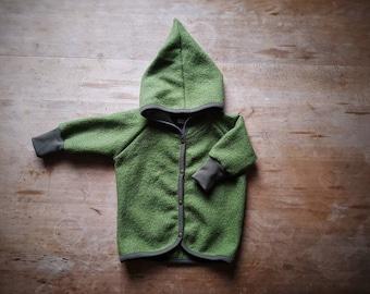 Baby woolly walk jacket with hood