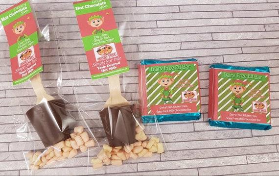 Dairy Free Hot Chocolate Stirrer Chocolate Bar Set Vegan Stocking Filler Xmas Eve Chocolates Gluten Free