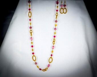 Pink and Gold Asymmetrical - PK14
