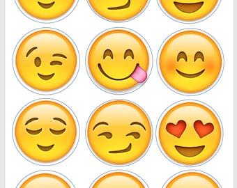 Flirty/Loving Emoji Edible Image/Cupcake/Cookie Topper