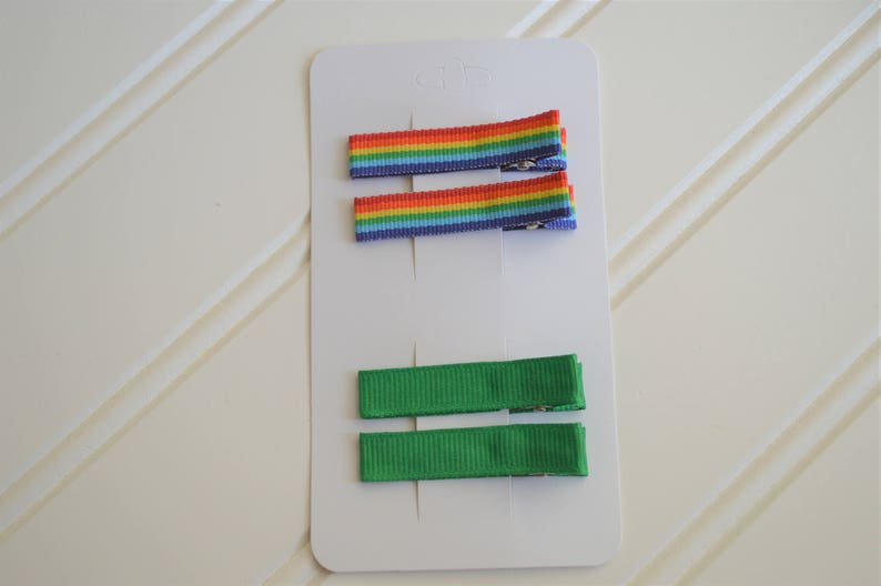 St Patricks Day Hair Clips St Patricks Day Rainbow Clip Simple Hair Clips Alligator Clips for Toddler Alligator Clips for Girls