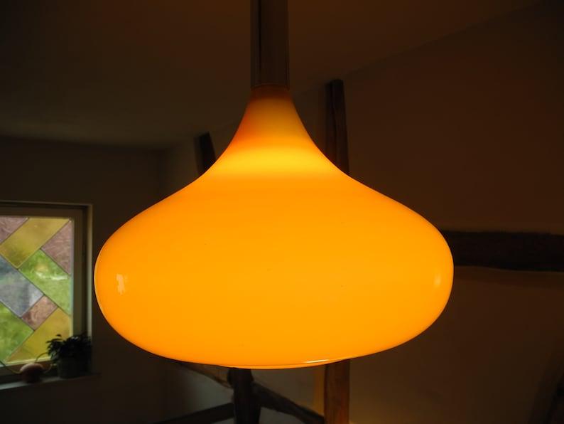 Doria Glass Lamp 70s Orange