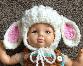 Newborn Little Lamb Hat Baby Shower Gift or Photo Prop