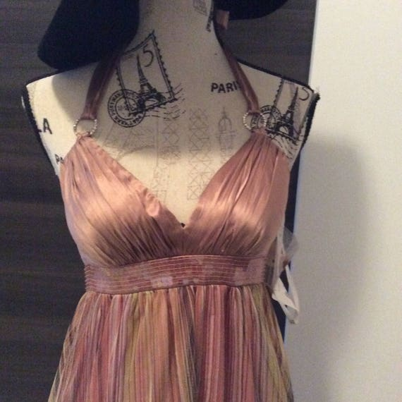 Dress Oleg Cassini pastel rainbow