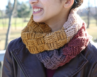 Lola Chunky Ombre Infinity Scarf
