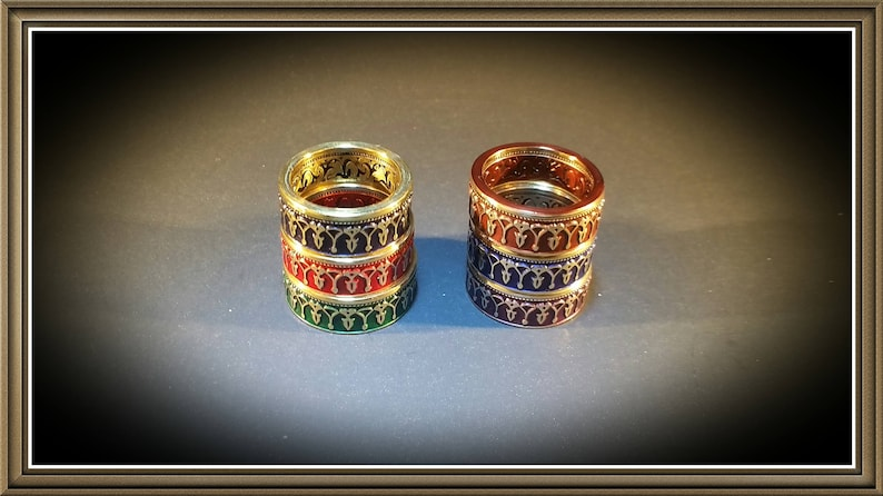 Tunisian Style Coin Ring  17 COLORS AVAILABLE image 0