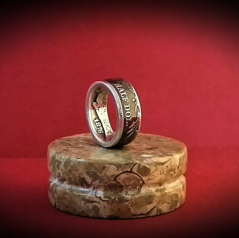 Seated Liberty Silver Coin Ring  17 Colors Available image 0