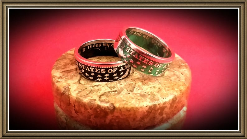 Barber Quarter Coin Ring  17 Colors Available image 0
