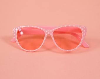 7fc3a8385e19 Polka Dot Sunglasses - 18inch Doll Accessories - Pink Doll Sunglasses-American  Girl