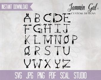 Tool Alphabet |  construction svg | tools svg | builder svg carpenter handyman svg gift for him, pdf, jpg, png, scal Cricut Silhouette print