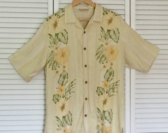 aebab2871 Vintage Tommy Bahama Men's Hawaiian Shirt, Tropical Motif, Size M, 100% Silk