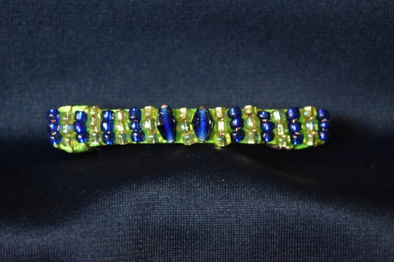 Seahawks inspired Team Colors beaded Hair Clip Barrette