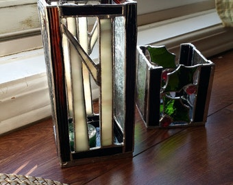 Custom Stained Glass Candle Holder