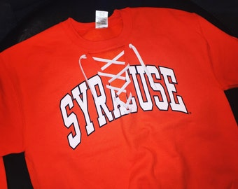 Lace Up College Crew Neck