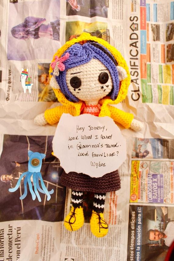 Pdf Coraline 2x1 Amigurumi Crochet Diy Pattern Etsy