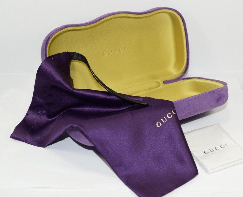 promo code fc0b0 95fb2 GUCCI Velvet Purple SUNGLASSES CASE