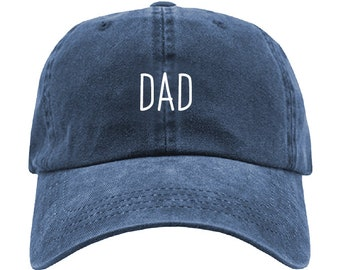 f268b053421 Fathers Day DAD Embroidered Pigment Dyed Adjustable Baseball Dad Cap - One  Size - Brand New - Fathers Day Gift - Best Dad - Washed Style Cap