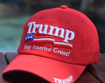 6e362e5000f40d Keep America Great Trump Embroidered Adjustable Baseball Dad Cap Hat -  Trump 2020 - Make America Great Again