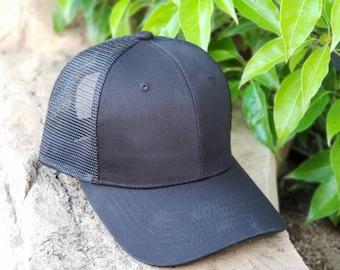 9904fd8c New Blank Trucker Mesh Baseball Adjustable Snapback Cap - Black