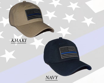 Thin Blue Line USA American Flag Police Officer Law Enforcement Embroidered  Adjustable Baseball Dad Cap - Brand New - Gift d4fb90d8d893