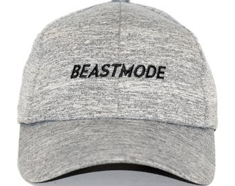 0d8b22c1561 Beastmode Sports Gray Fashionable Fitness Embroidered Cotton Adjustable  Baseball Dad Cap - Men and Women