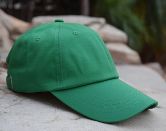 Holiday Christmas Green Blank 6 Panel 100% Premium Cotton Adjustable  Baseball Dad Cap Hat - Gift - One Size - Green Hat - Plain - Brand New bc5e88ccca39