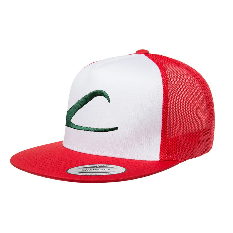 219c3d2663995 Pokemon Ash Ketchum Trainer Anime Red and White Halloween Mesh
