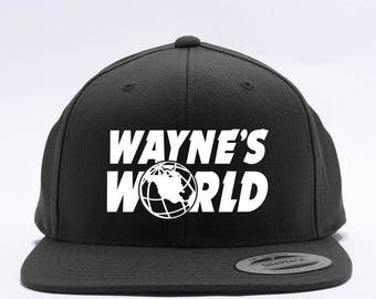 Wayne's World Embroidered Party Costume Adjustable Baseball Cap - 2 Styles - Dad Cap and FlexFit Snap Back - Men and Women