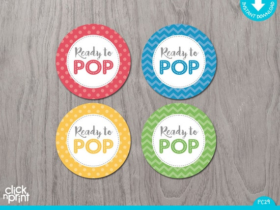 Ready To Pop Tags Printable Stickers