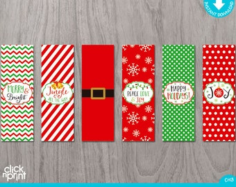 Christmas nugget chocolate wrapper print yourself, Christmas chocolate stickers, Printable Christmas nugget candy bar wrapper DIY