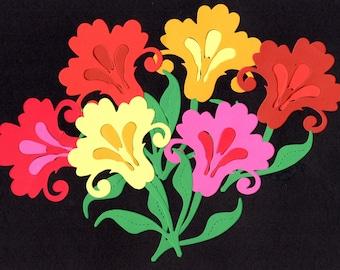 6 Flower Iris Garden Scrapbooking, Paper Piecing, Party, Page, Collage