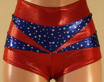 c9c576cfb7d91 Contrast Matched Booty Short (Wonder Woman Inspired)