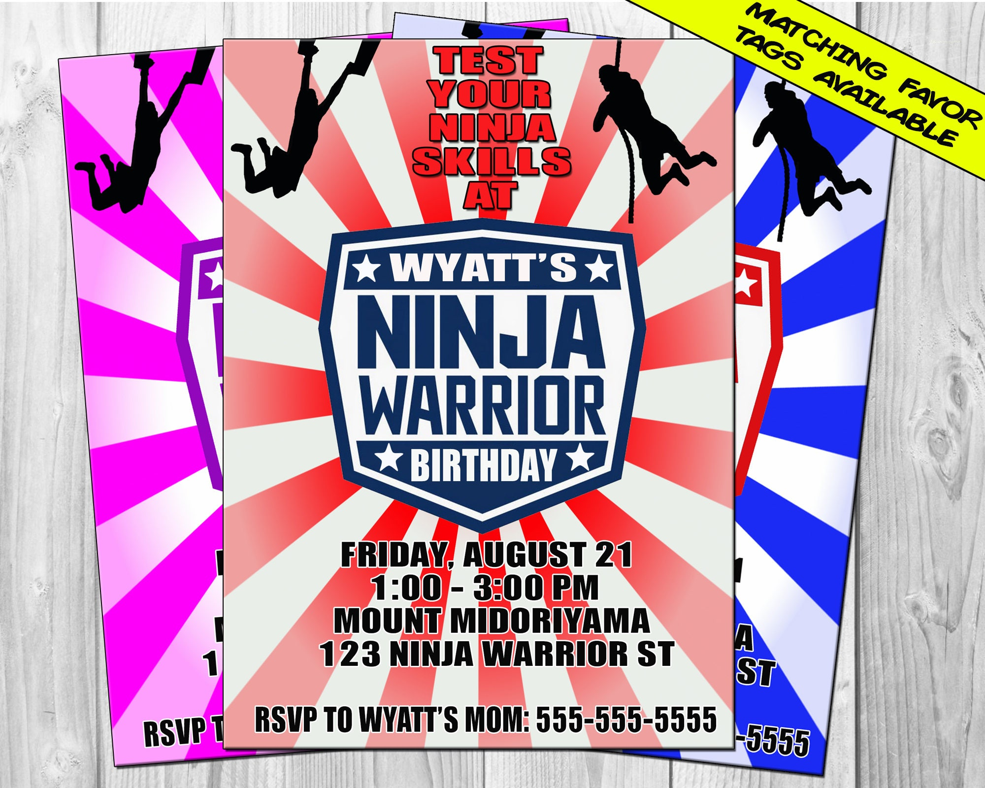 American Ninja Warrior Invitation Ninja Warrior Birthday | Etsy