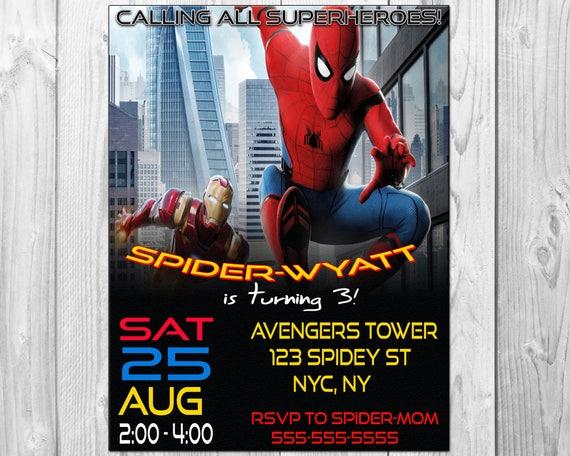 Spiderman birthday party invitations spiderman invitation solutioingenieria Gallery
