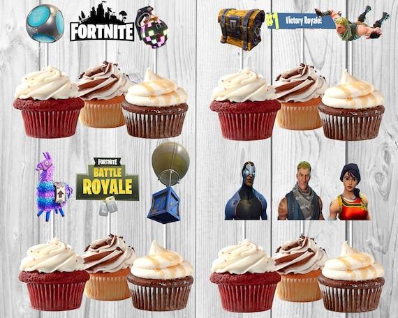 Fortnite Birthday Fortnite Cupcake Toppers Fortnite Party