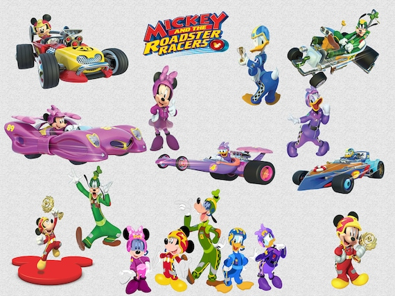 26 Mickey And The Roadster Racers Clipart 300 Dpi Png Mickey Etsy