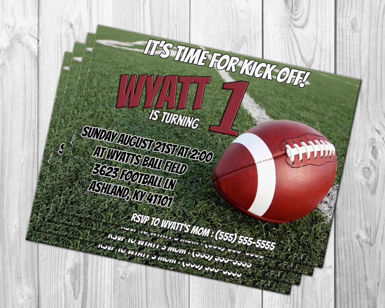 FOOTBALL BIRTHDAY INVITATION Football Invitation Printable
