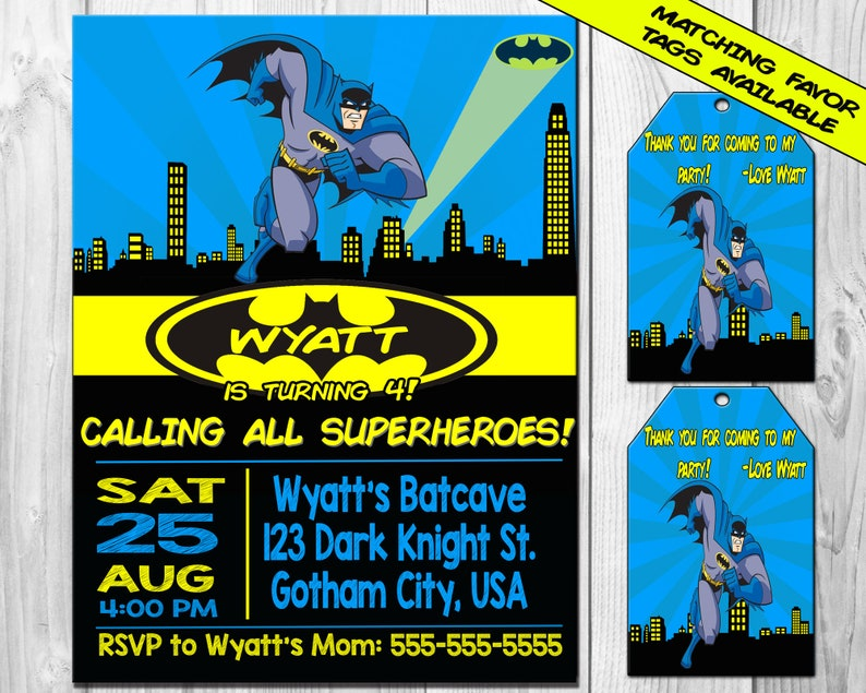 picture relating to Printable Batman Invitations identified as BATMAN Birthday Bash Invitation, Printable Batman Invitation, Birthday, Justice League