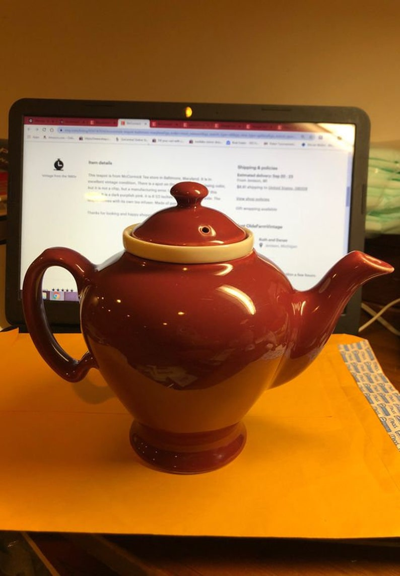 McCormack Baltimore Teapot 7\u201d Tall In Vg Condition Pre Owned From Estate